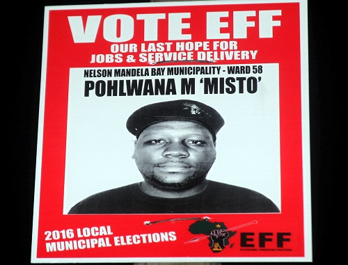 INFORMAL TOUCH: Pohlwana M Misto (Ward 58). Picture: The Herald