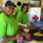 Nwabisa Gontsana, left, and Raquel Coetzee made sandwiches Picture: Gillian McAinsh