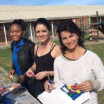 Vivienne Mcetya, left, Nicky Grundlingh, centre and Mandy Van Der Merwe helped at the school Picture: Gillian McAinsh