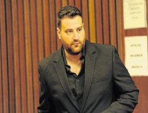 Christopher Panayiotou at his first  hearing in the PE Magistrate's Court. Photo: Mike Holmes © The Herald.