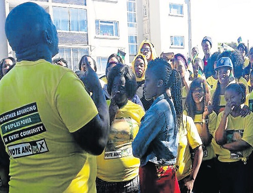 BUDGET SHORTFALL: PE College students show their dissatisfaction yesterday. Picture: NTOMBESIZWE BOTHA