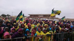 Thousands have arrived at the Dan Qeqe Stadium to hear President Jacob Zuma speak Picture: Eugene Coetzee
