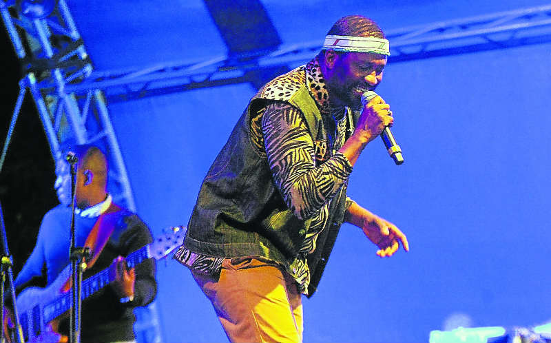 King of African loves songs Ringo Madlingozi also performed at the iRock eBhayi music festival last year