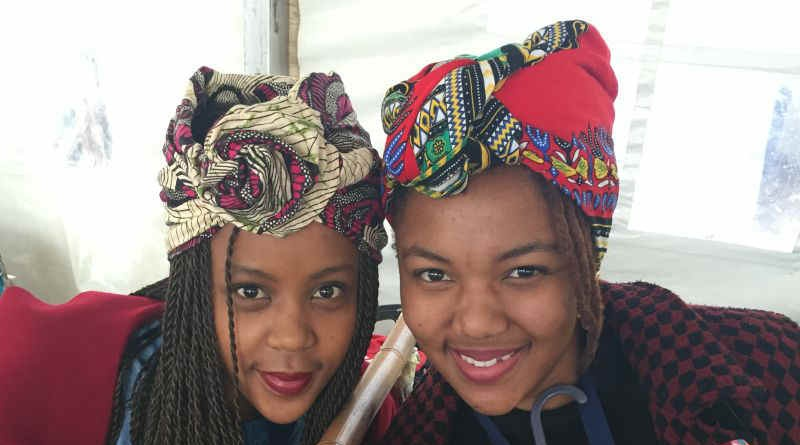 Nwabisa Tsotsobe, left, and Sinesipho Shushwana modelled in the Mal'Stones fashion show as part of the Mandela Bay Fest last week. Picture: Gillian McAinsh