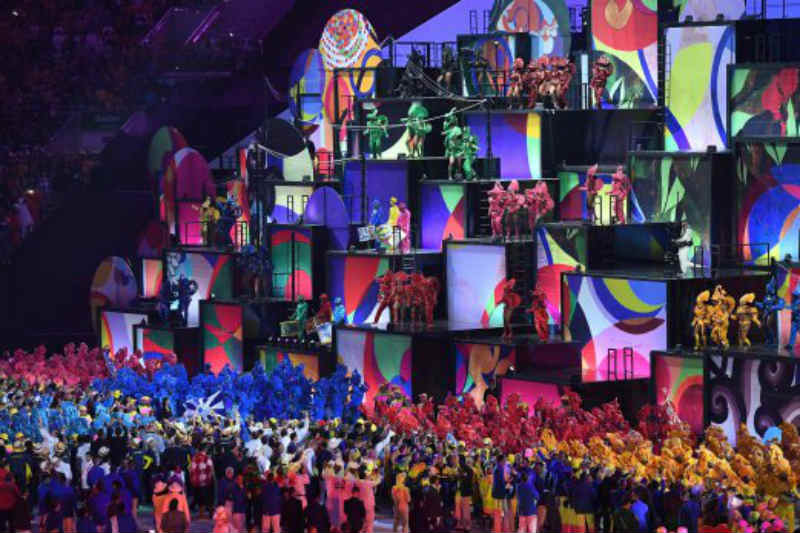 Samba dancers and drummers from various Samba Schools perform during the opening ceremony of the Rio 2016 Olympic Games at Maracana Stadium in Rio de Jeneiro on August 5 2016. Picture: AFP