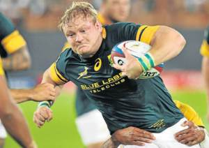TESTING TIME: Springbok captain Adriaan Strauss answered his critics with a stellar performance against Australia at Loftus Versfeld on Saturday. Picture: BACKPAGEPIX