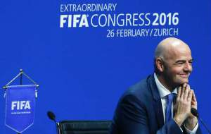 Newly elected FIFA President Gianni Infantino attends a news conference during the Extraordinary FIFA Congress in Zurich, Switzerland. Picture: ARND WIEGMANN / REUTERS