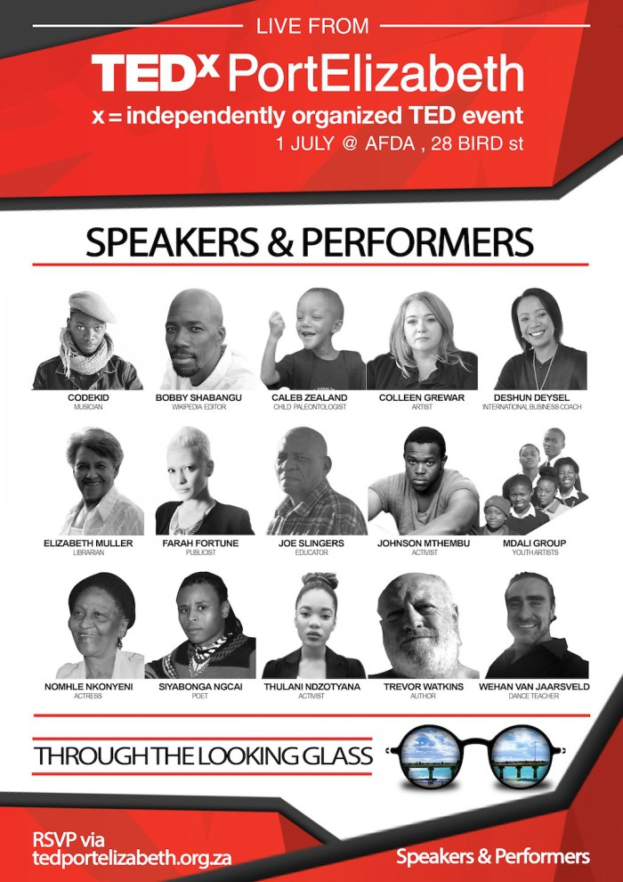 TEDx Port Elizebeth 2016 Conference Line-up